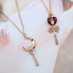 Jewelry - Sailor Moon Amethyst Heart Wand Pendant Necklace